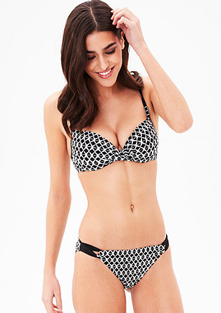 Bikini top with underwire cups from s.Oliver