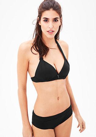 Bikini top za zavezovanje okoli vratu s push-up košaricami