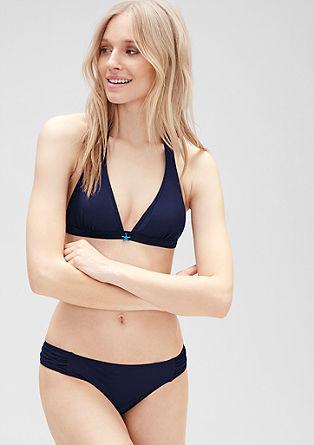 Bikinibroekje met rimpeling opzij