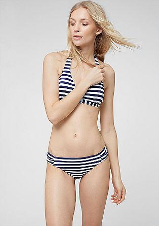 Bikinibroekje van gestreepte jacquard