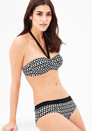 Bikinibroekje van jacquard