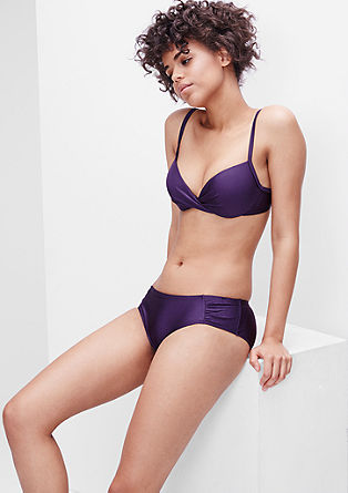 Bikinislip met rimpeling opzij