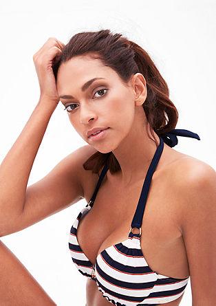Bikinitop in haltermodel, met push-up-effect