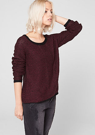 Black-and-white knitted jumper from s.Oliver