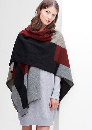 Blanket poncho in a wool blend from s.Oliver
