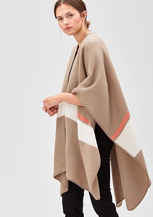 Blanket-poncho in oversized model