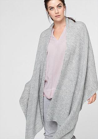 Blanket Poncho mit Mohair-Anteil