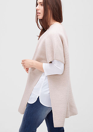 Blanket-Poncho mit Mohair