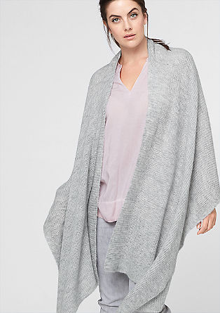 Blanket poncho with a percentage of mohair from s.Oliver