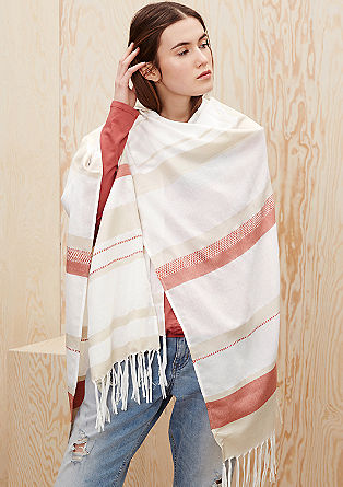 Blanket poncho with fringing from s.Oliver