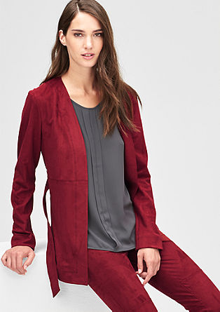 Blazer-Jacke aus Lederimitat