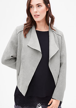 Blazer jacket in faux suede from s.Oliver
