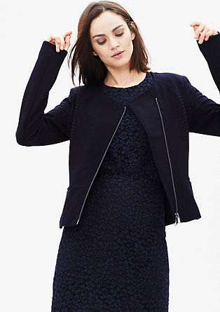 Blazer jacket with a textured pattern from s.Oliver