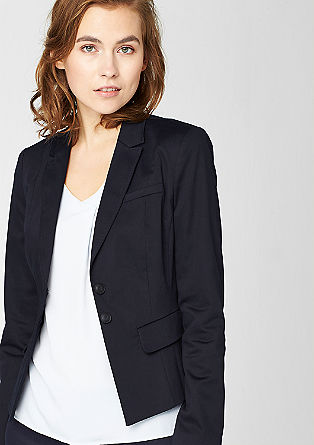 Blazer made from cotton satin from s.Oliver