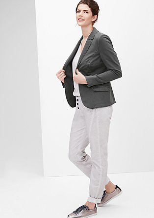 Blazer met een garment-washed effect