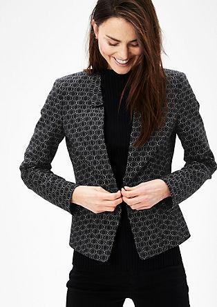 Blazer s tkanim vzorcem