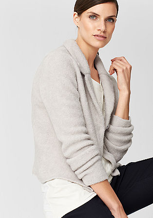 Blazer-style cardigan from s.Oliver