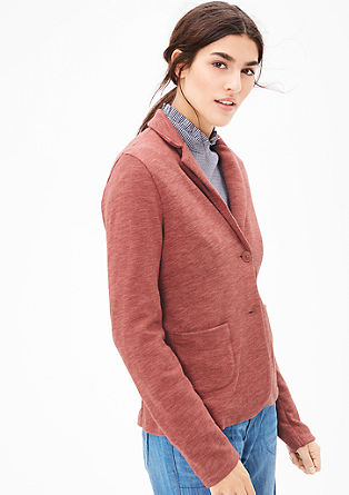 Blazer-style jacket in sweatshirt fabric from s.Oliver