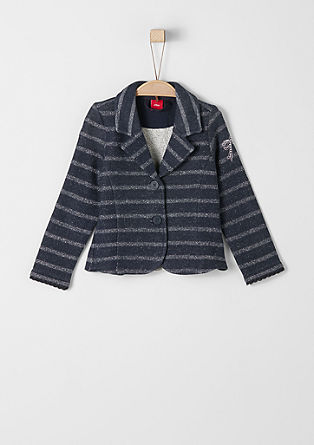 Blazer-style zip-up glitter sweatshirt from s.Oliver