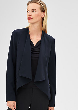 Blazer with a cowl lapel from s.Oliver