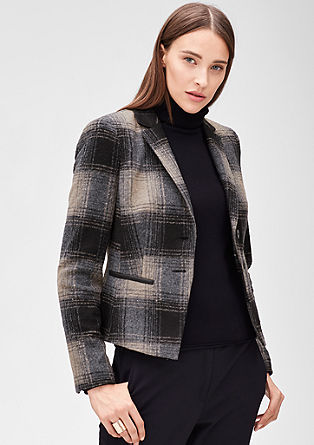 Blazer with a glen plaid pattern from s.Oliver