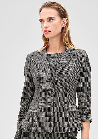 Blazer with a houndstooth pattern from s.Oliver