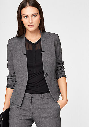 Blazer with a piqué texture from s.Oliver