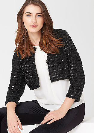 Blazer with a sequin trim from s.Oliver