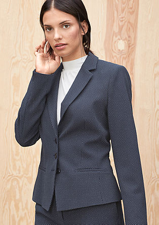 Blazer with a textured pattern from s.Oliver