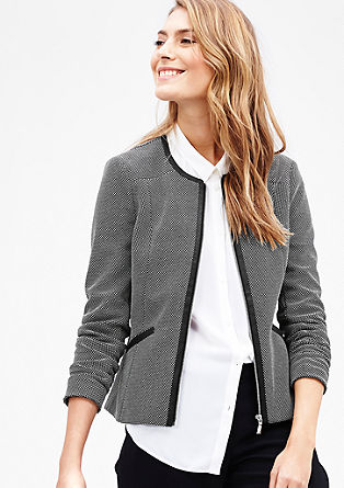 Blazer with imitation leather details from s.Oliver