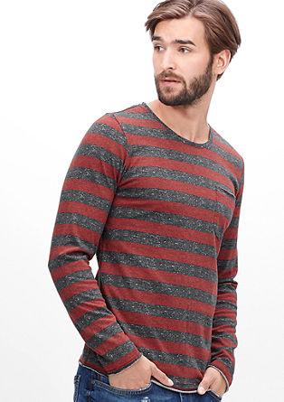 Blockstreifen-Shirt aus Jersey