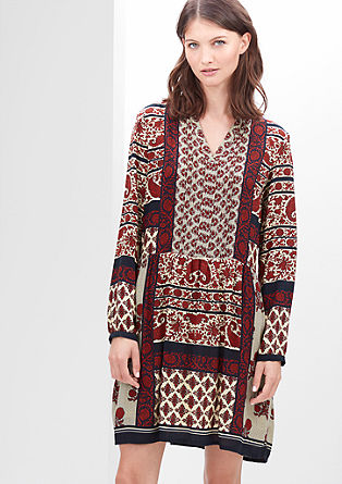Blouse dress in an ethnic style from s.Oliver