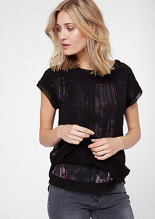 Blouse in a layered look from s.Oliver