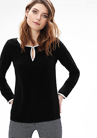 Blouse in black and white from s.Oliver