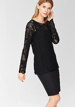 Blouse made from floral lace from s.Oliver