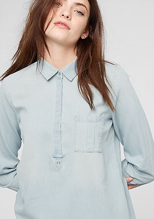 Blouse met een denim look