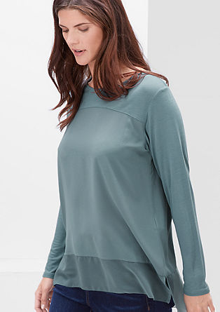 Blouse top in a mix of materials from s.Oliver