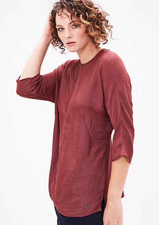 Blouse top in a silky satin look from s.Oliver