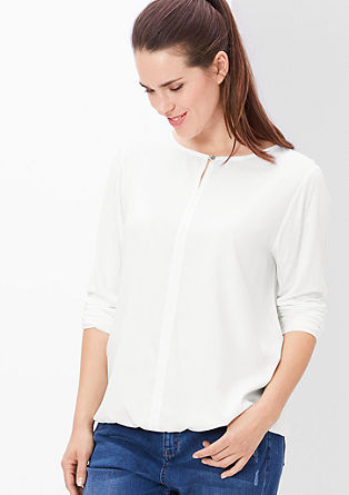 Blouse top with a button from s.Oliver