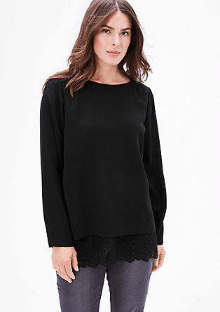 Blouse top with a lace layer from s.Oliver