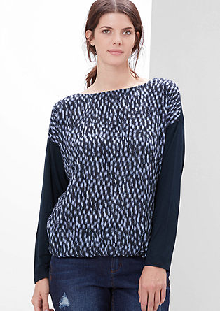 Blouse top with a printed pattern from s.Oliver