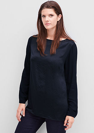 Blouse top with a silky finish from s.Oliver