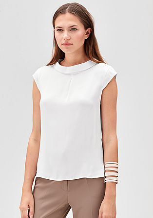 Blouse top with a small collar from s.Oliver