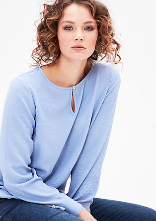Blouse top with a teardrop neckline from s.Oliver