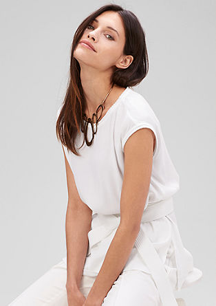 Blouse top with a tie-around belt from s.Oliver
