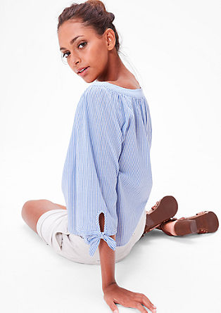 Blouse top with a wide neckline from s.Oliver