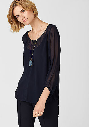 Blouse top with an integrated top from s.Oliver