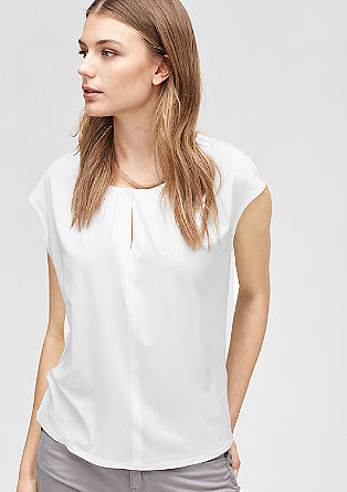 Blouse top with gathered pleats from s.Oliver