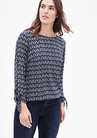 Blouse top with knotted details from s.Oliver