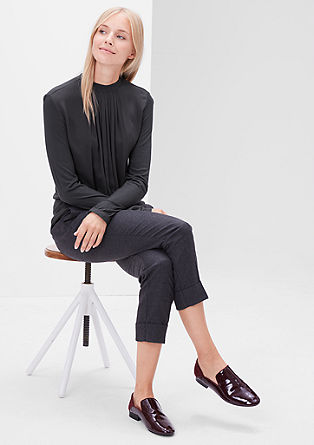 Blouse top with stand-up collar from s.Oliver